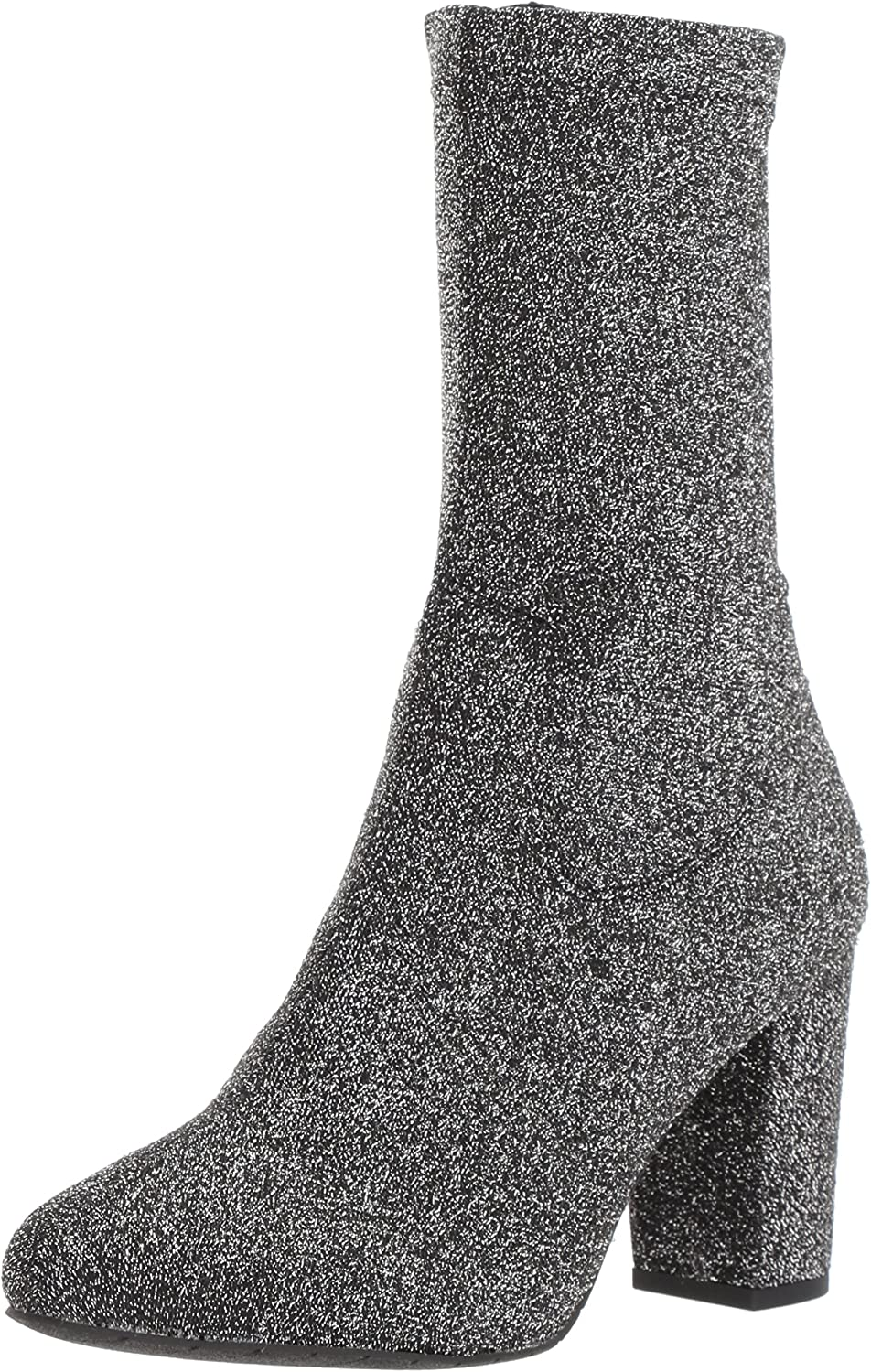 Kenneth Cole New York Womens Alyssa Stretch Shaft Boot with Heel Ankle Boot