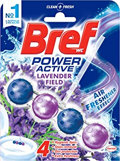 Bref Power Active Lavender Field, Rim Block Toilet Cleaner, 50g, Lavender