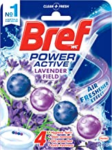 Bref Power Active Lavender Field, Rim Block Toilet Cleaner, 50g, Lavender