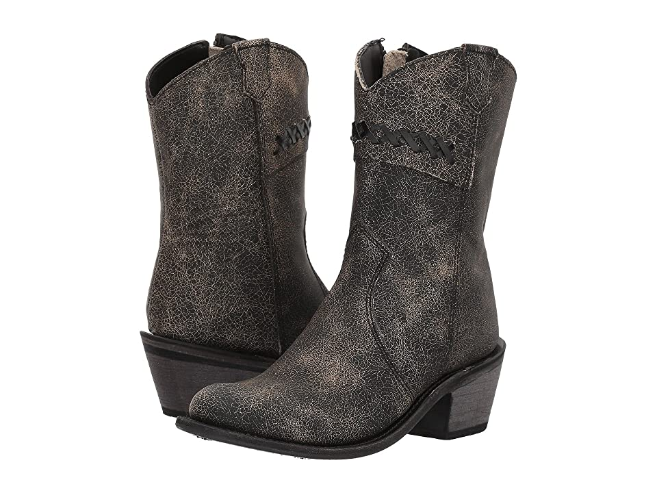 Old West Kids Boots Fashion Zipper (Toddler/Little Kid) (Vintage Charcoal) Cowboy Boots