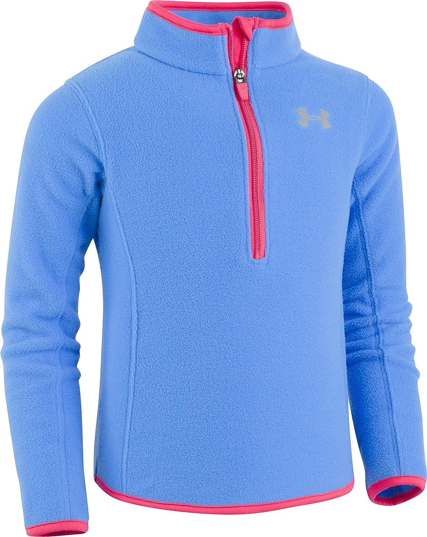 Under Armour Girls' Solid 1/4 Zip Fleece Track Sweater