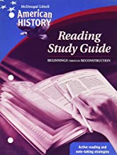 American History, Grades 6-8 Beginnings Through Reconstruction Reading Study Guide: Mcdougal Littell American History (McDougal Littell Middle School American History)