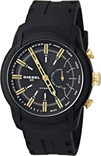 Diesel On Men's Armbar Silicone Hybrid Smartwatch - Activity Tracker Compatible with Android and iOS Phones