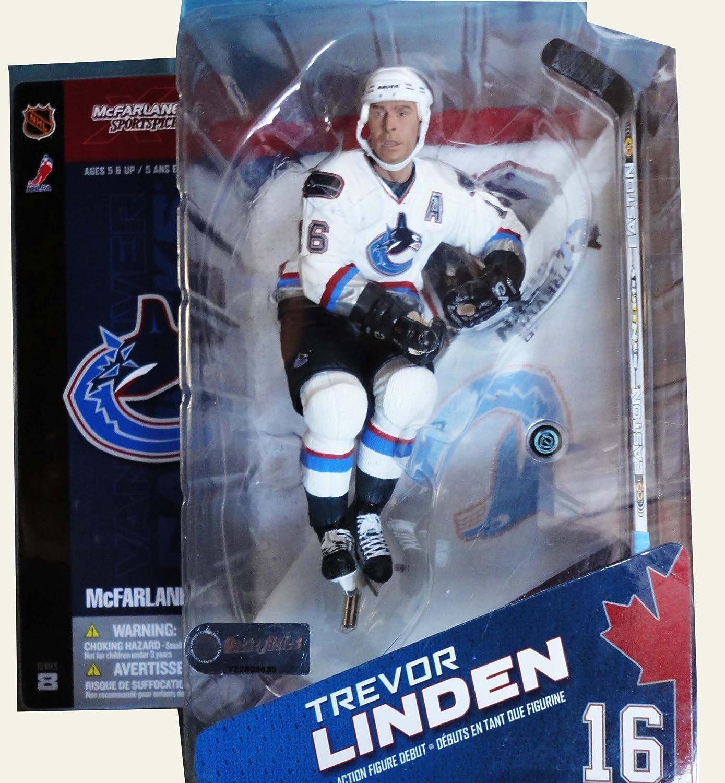 McFarlane NHL Series 8 Action Figure  Trevor Linden Vancouver Canucks (Regular White Jersey)