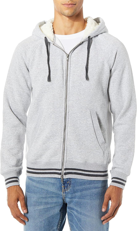 Mills Supply Men's Zip-up Hoodie French Terry Sweatshirt