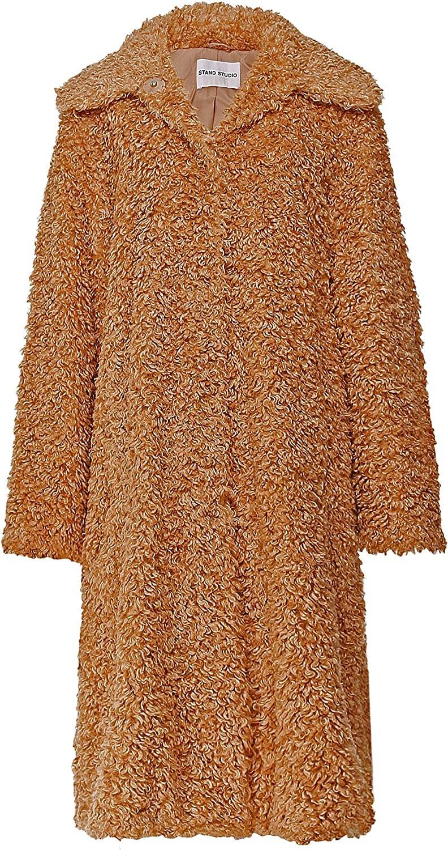 Stand Studio Women's Maxine Faux Fur Coat Beige