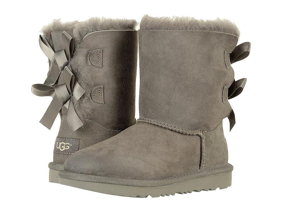 UGG Kids Bailey Bow II (Little Kid/Big Kid) (Grey) Girls Shoes