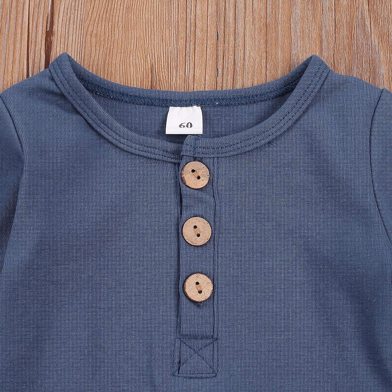 MoccyBabeLee Nouveau-n/é b/éb/é gar/çon Pantalon Haut /à Manches Longues Barboteuse Body Cordon Pantalon Pyjamas Ensemble de v/êtements
