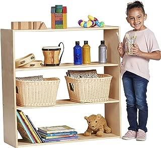 ECR4Kids Birch Streamline Storage Cabinet | Hardwood Classroom & Home Storage Solution for Kids | 3-Shelf Without Back, 36