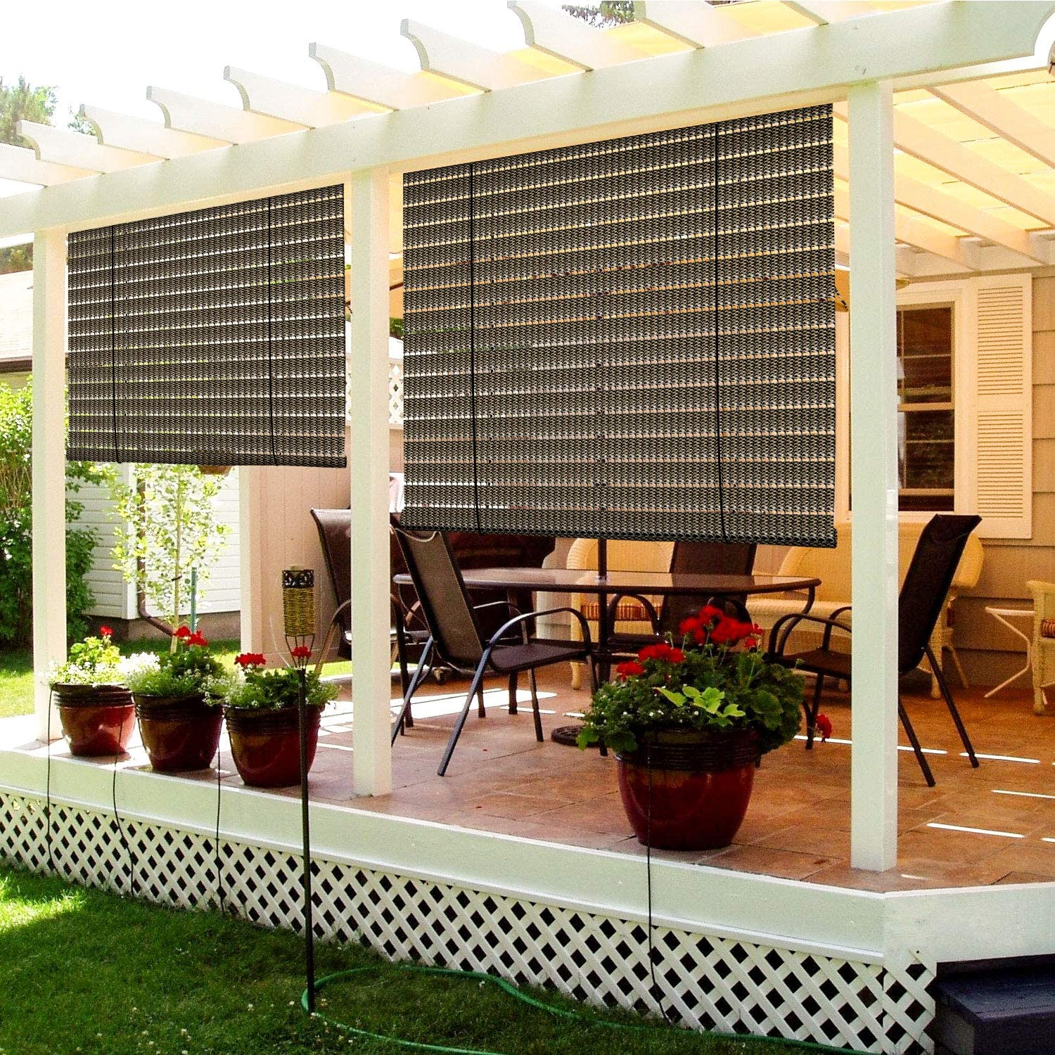 TANG Exterior Roller Shade Roll up Patio Import Deck Pe El Paso Mall for Porch