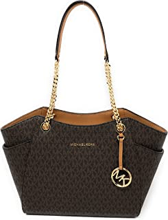 4d1a843ef595 Michael Kors Jet Set Travel Large Chain Shoulder Tote
