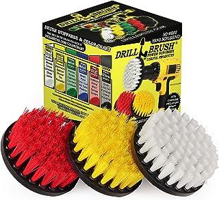 Drillstuff クリーニング用品ドリルのために毛のブラシの4インチバラエティパック。シンク、シャワー、タイルとグラウト、バスタブ、フローリング:バスルームとキッチンの表面を含む最適です。