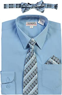 sky blue dress shirt with tie