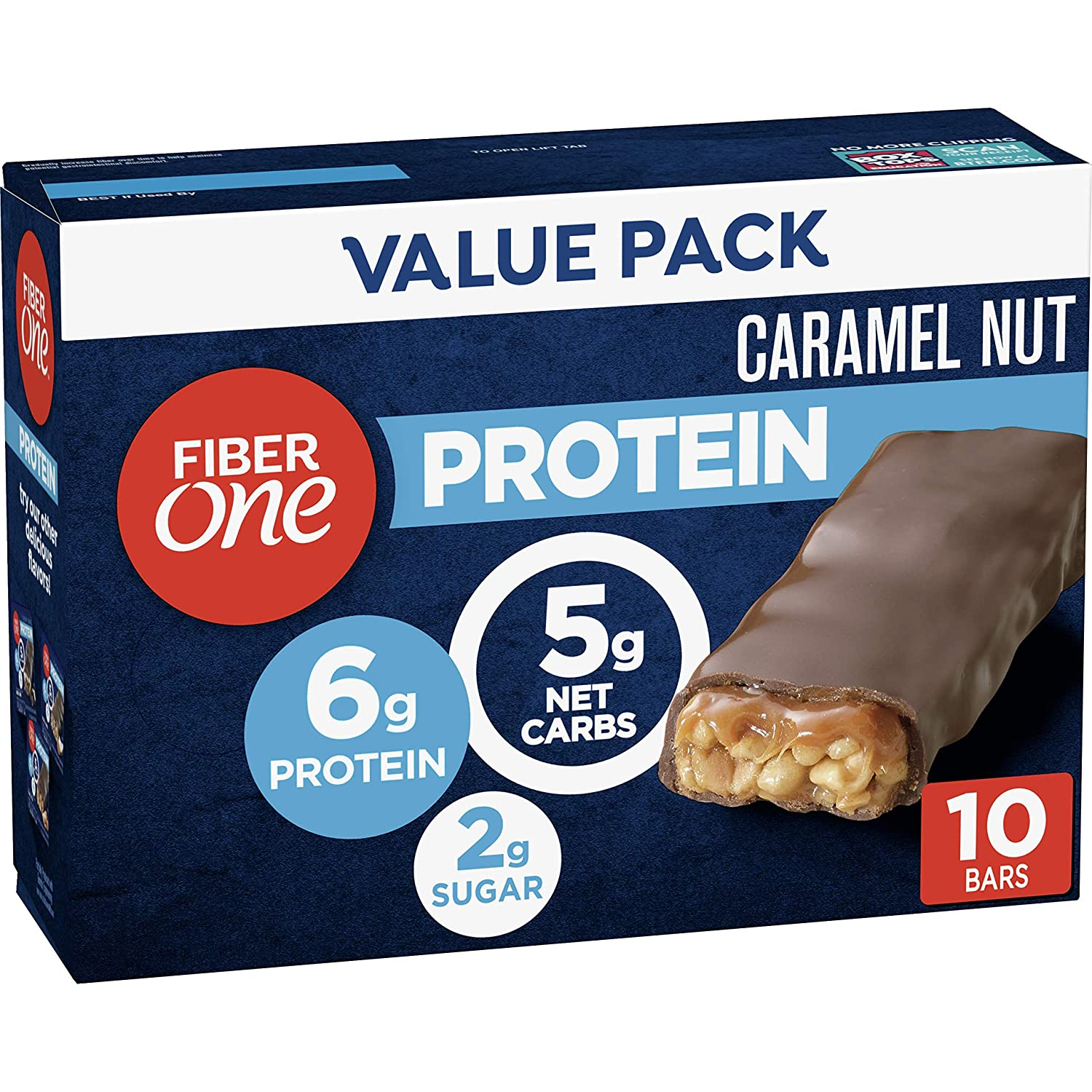 Fiber One Latest item Protein Bar Caramel Bars Snacks Complete Free Shipping Chewy 6g 1