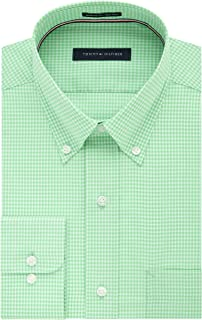 Men's Dress Shirt Regular Fit Non Iron Gingham