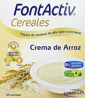 Fontactiv Crema de Arroz 600grs. Papilla de cereales para