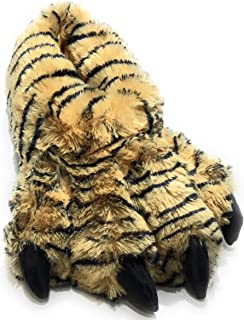 Sundial Wild Ones Furry Animal Claw Slippers for Toddlers, Kids and Adults
