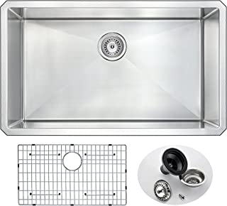 brushed stainless steel vessel sink