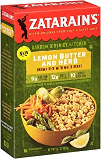 Zatarain's Lemon Butter And Herb Brown Rice With White Beans, 5.7 oz