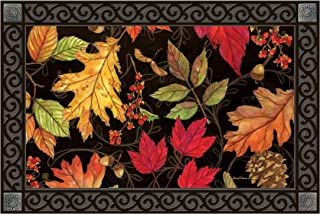 Studio M MatMates Autumn Symphony Fall Decorative Floor Mat Indoor or Outdoor Doormat with Eco-Friendly Recycled Rubber Backing, 18 x 30 Inches