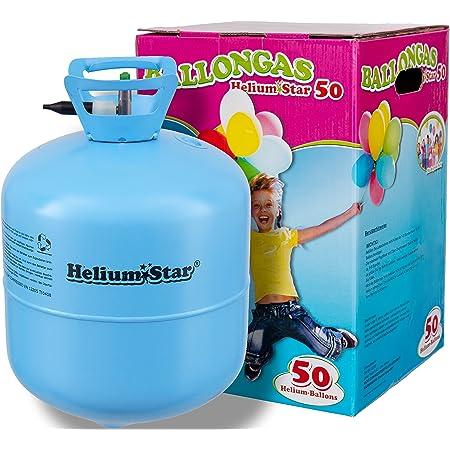 HeliumStar - Bombola di gas elio per palloncini con 420 litri per gonfiare fino a 50 palloncini, per feste e diverse occasioni, Blu