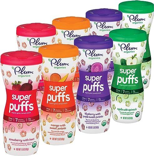 Plum Organics Super Puffs Variety Pack, 1.5 Ounce (Pack of 8)