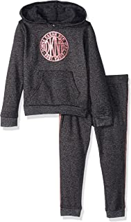 DKNY Baby Girls 2 Piece Medalian Hoodie and Jogger Set