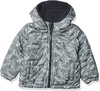 LONDON FOG boys Reversible Fleece-to-poly Jacket