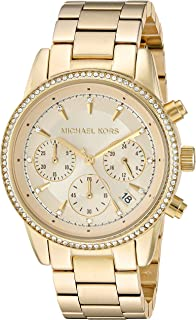 Michael Kors Womens 37mm Ritz Chronograph Watch