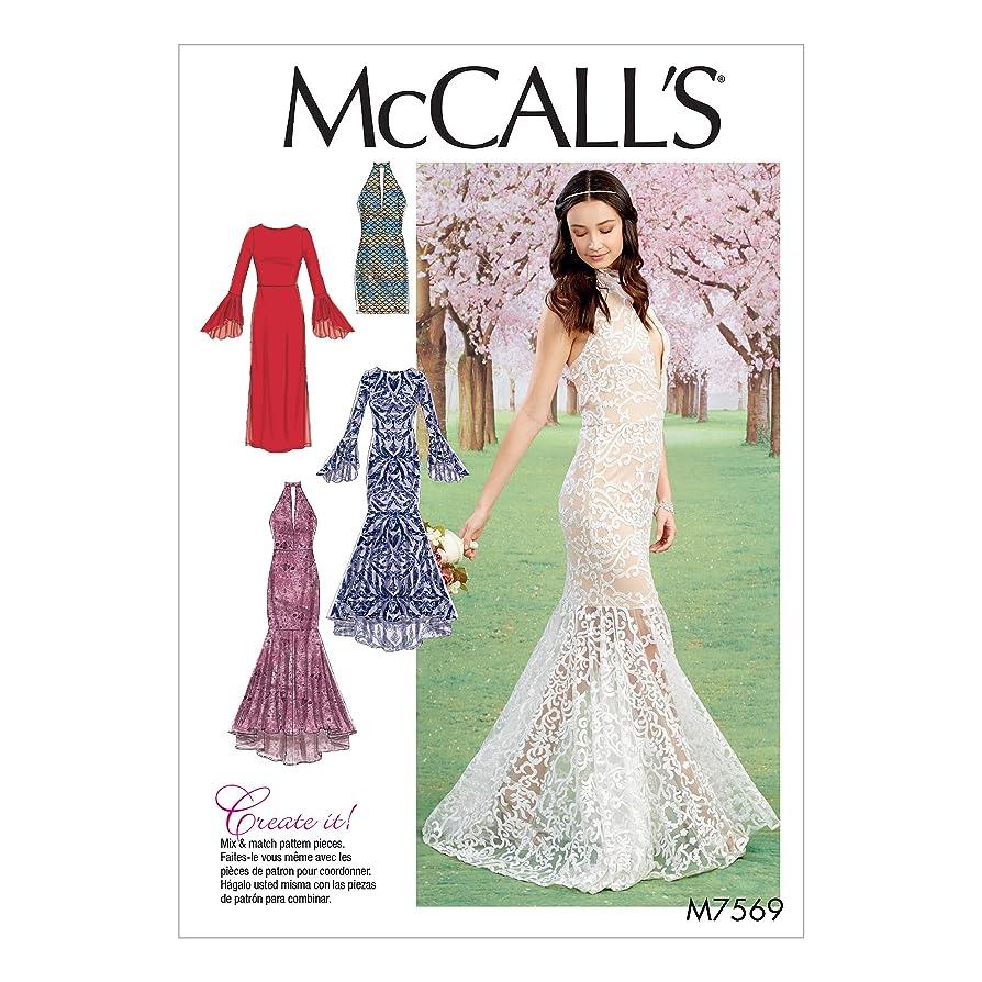 McCall's Patterns M7569A50 Misses Bodice and Sleeve Variations Column and Mermaid-Style Dresses cjbcjvaljxkk1
