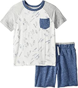 Surfboard Tee Set (Little Kids/Big Kids)
