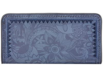 Sakroots Artist Circle Slim Wallet (Indigo Spirit Desert) Wallet Handbags