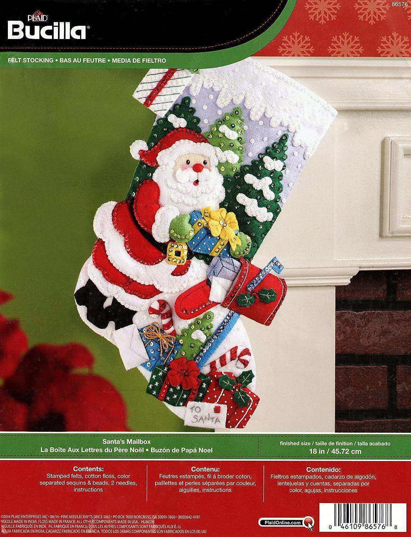 marca Bucilla Santa's Santa's Santa's Mailbox Stocking Felt Applique Kit-18 Long  todos los bienes son especiales
