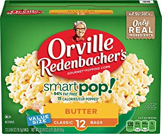 Orville Redenbacher's SmartPop! Butter Microwave Popcorn, 2.69 Ounce Classic Bag, 12-Count, Pack of 6