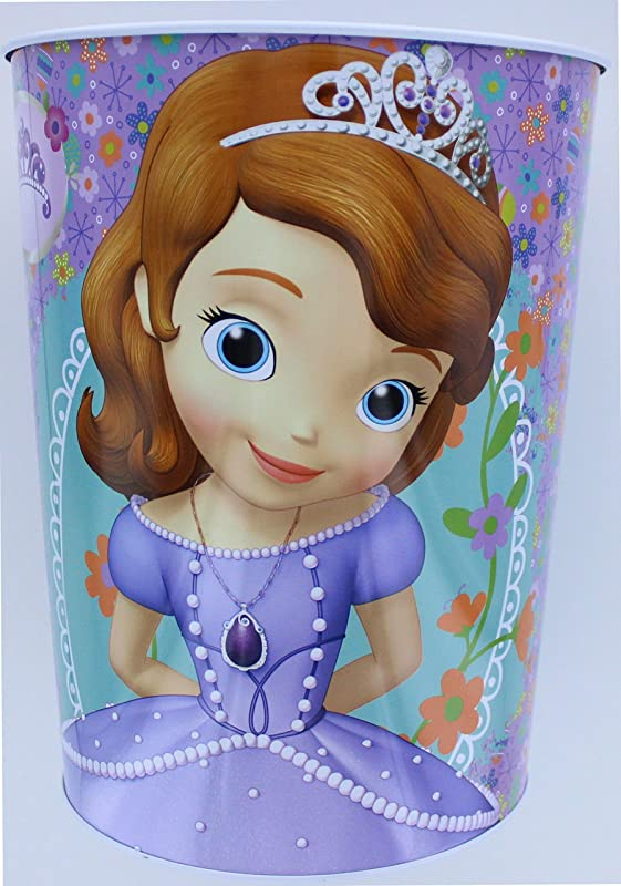 TinBox Disney Sofia The First Wastebasket Garbage Can Smart Princesses Rule