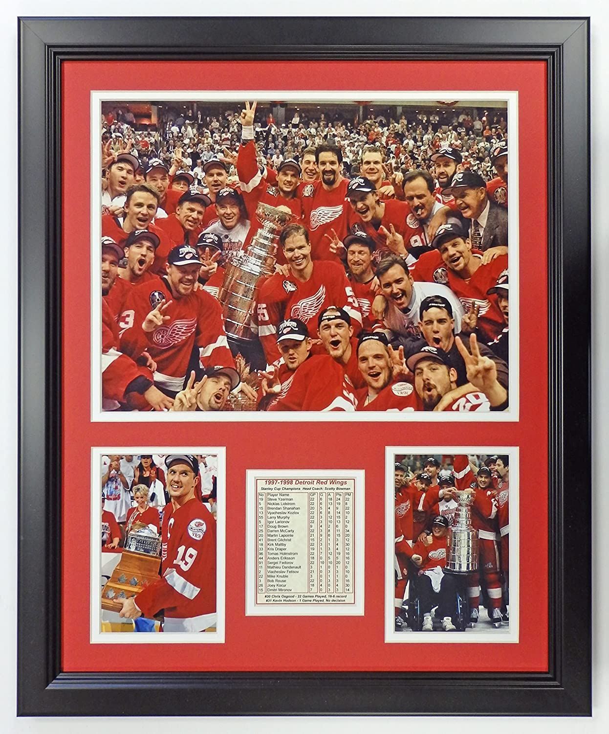 Free Shipping Cheap Bargain Gift Legends Never Die NHL Detroit Red Stanley Cup Factory outlet 1998 Champio Wings