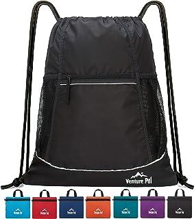 Venture Pal Packable Sport Gym Drawstring Sackpack Backpack Bag with Wet Pocket for Men,Women,Kids-8 Colors