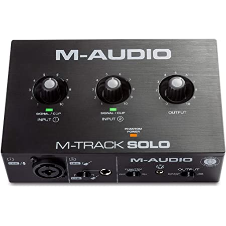 M-Audio USBオーディオインターフェース音楽制作ソフト付Mac Win再生ライブ配信宅録コンボジャックM-Track Solo