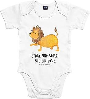 Mr. & Mrs. Panda Mr. & Mrs. Panda Babysuit, Strampler, 3-6 Monate Baby Body Sternzeichen Löwe mit Spruch - Farbe Transparent
