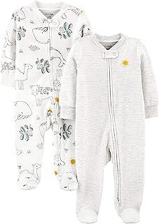 Simple Joys by Carter's Baby 2-Pack 2-Way Zip Thermal Footed Sleep and Play uniseks-baby baby- en peuter-pyjama's