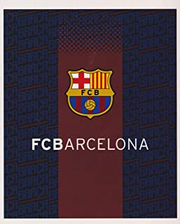 FC Barcelona FCB Jersey Silk Touch Throw with Sherpa Lining Blanket 50