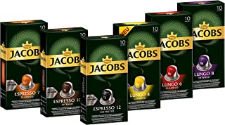 Jacobs 咖啡胶囊 缤纷装-60 Nespresso(R)*咖啡机兼容铝质咖啡胶囊 6件装