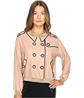 Boutique Moschino Crepe Button Blouse