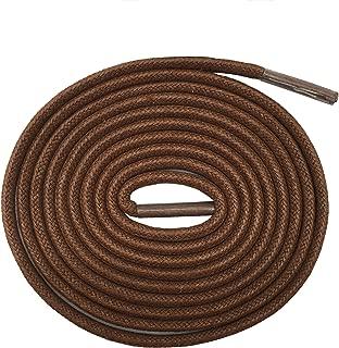 2 Pair Super Cotton Round Waxed Shoelaces 1/8