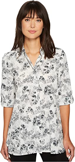 Ellen Tracy - Roll Tab Boyfriend Shirt