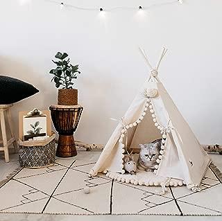 Original Design Teepee Dog Bed: Dog Teepee Tent or Cat Teepee, Pet Teepee, Dog Tent Mini Teepee by MINICAMP 100% Handmade! (Medium)