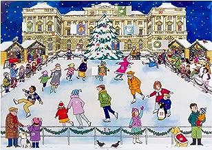 Alison Gardiner Famous Illustrator Unique Traditional Advent Calendar - Designed in England - Beautiful Festive Scene of Villagers Ice Skating