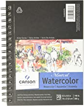 Canson 400059878 Artist Series Montval Watercolor Paper Pad, Heavyweight Cold Press and Micro-Perforated, Side Wire Bound,...