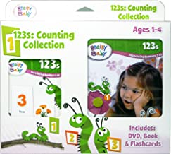 Brainy Baby Learn 123s Introducing Numbers 1 to 20 Flashcards, DVD and Board Book Collection Deluxe Edition