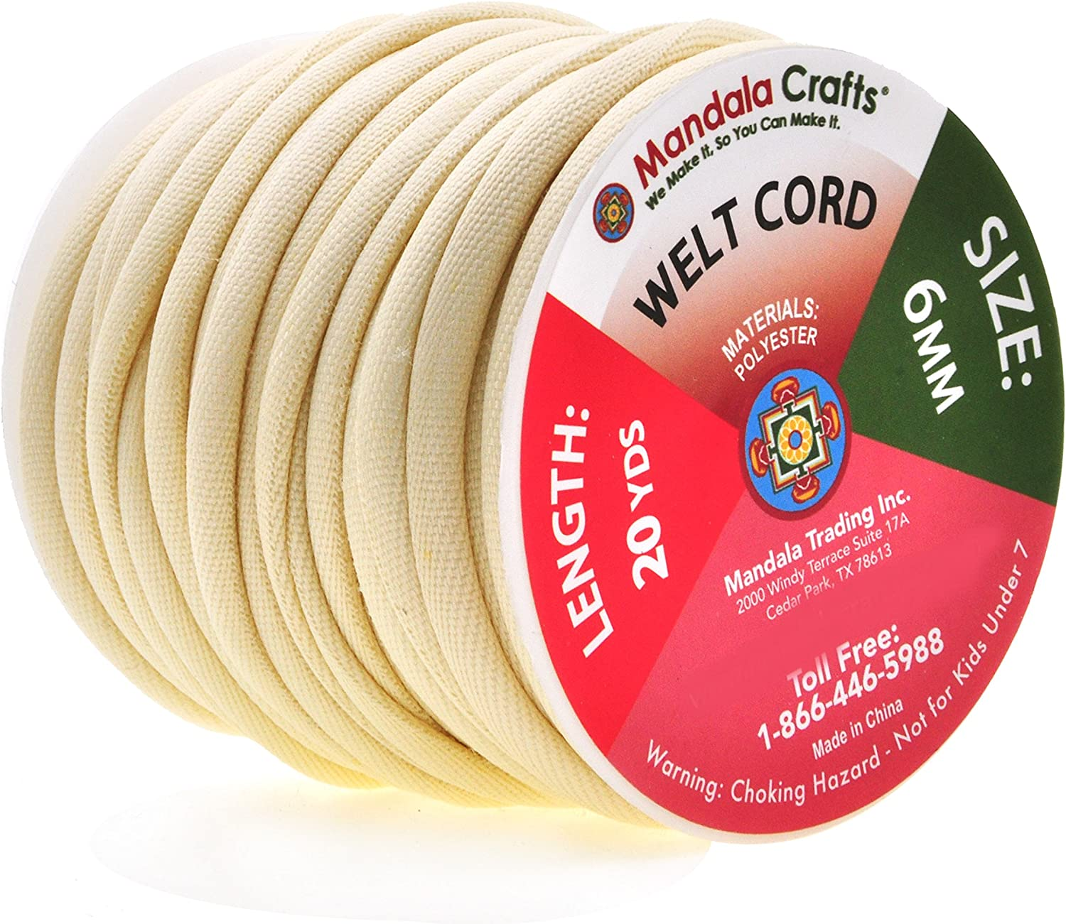 Piping Cord Cotton 4 mm  6 mm 8 mm Polyester 5 mm Sold in 5 mt Lengths Sewing Upholstery Needlecrafts